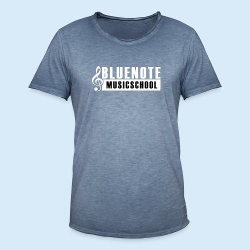 Bluenote Musicschool Logo Weiss/Schwarz - Männer Vintage T-Shirt