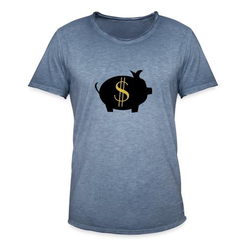 Zahlschweinchen - Männer Vintage T-Shirt