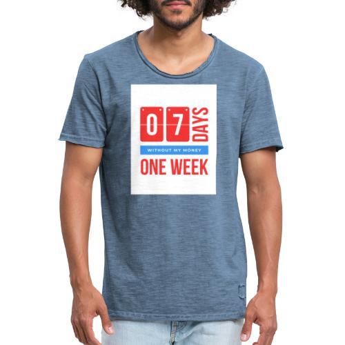 one weEk seven days - T-shirt vintage Homme