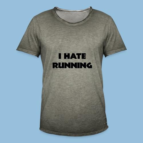 I hate running 001 - Mannen Vintage T-shirt