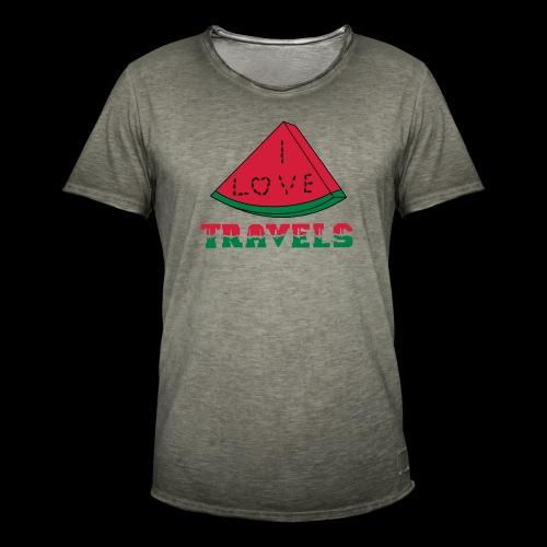 I LOVE TRAVELS FRUITS for life - Men's Vintage T-Shirt