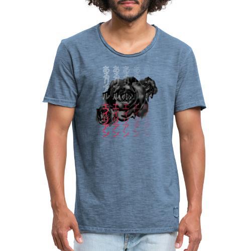 Areal Alien Japanese Fade Rose - Vintage-T-skjorte for menn
