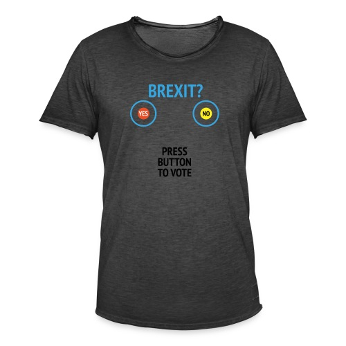 Brexit: Press Button To Vote - Herre vintage T-shirt