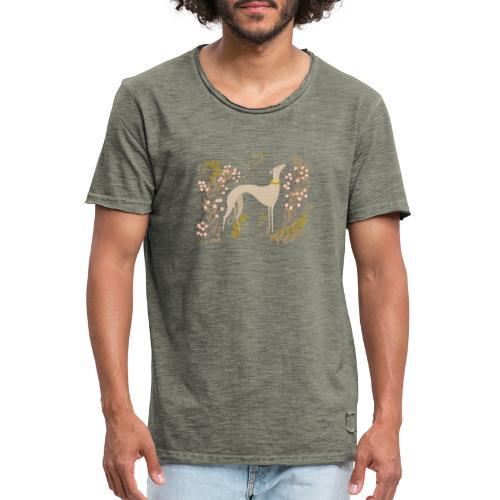 heller Windhund im Herbst - Männer Vintage T-Shirt