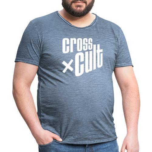 Cross Cult Logo Weiß - Männer Vintage T-Shirt
