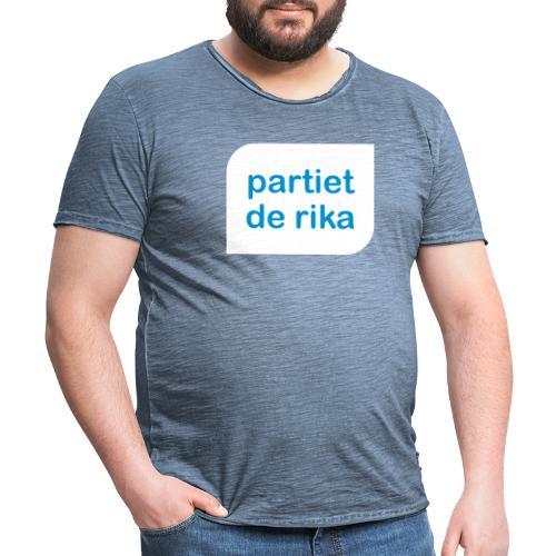 Logo vit - Vintage-T-shirt herr