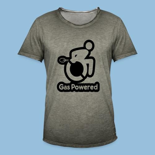 Gas Powered Wheelchair 001 - Mannen Vintage T-shirt
