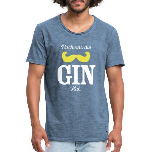Nach uns die Gin-Flut - Männer Vintage T-Shirt