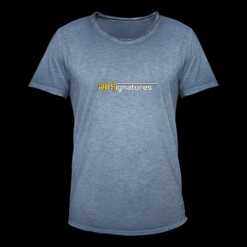 N0$ignatures (nessuna firma) - Maglietta vintage da uomo