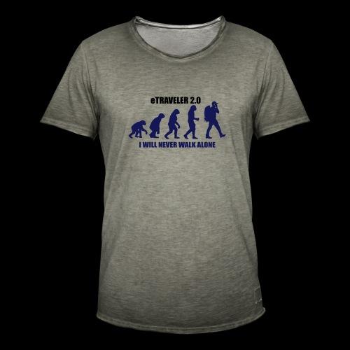 I WILL NEVER WALK ALONE - Men's Vintage T-Shirt