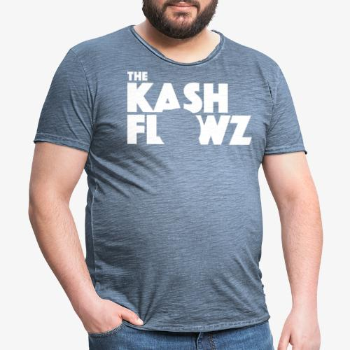 The Kash Flowz Official Logo White - T-shirt vintage Homme