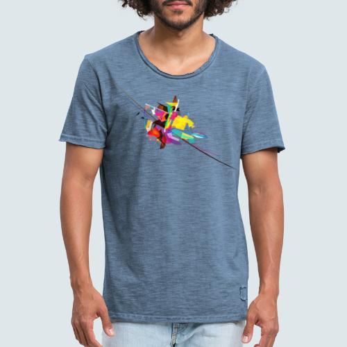 Farbenquadrat - Männer Vintage T-Shirt
