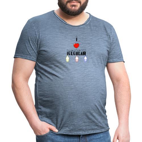 I Love Icecream - Männer Vintage T-Shirt