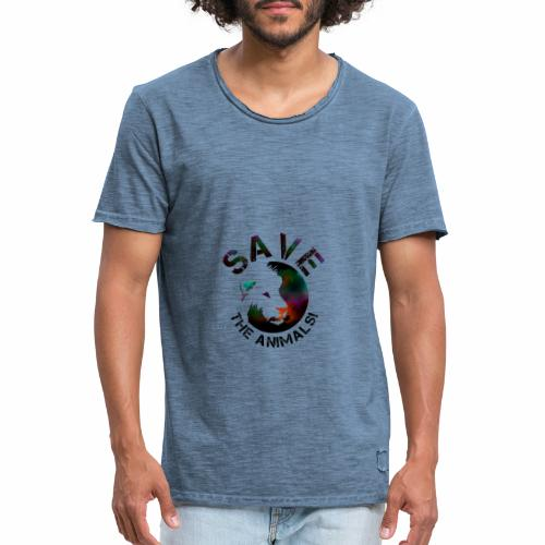SAVE THE ANIMALS! KOLLEKTION BY Mikka_ufficiale - Männer Vintage T-Shirt