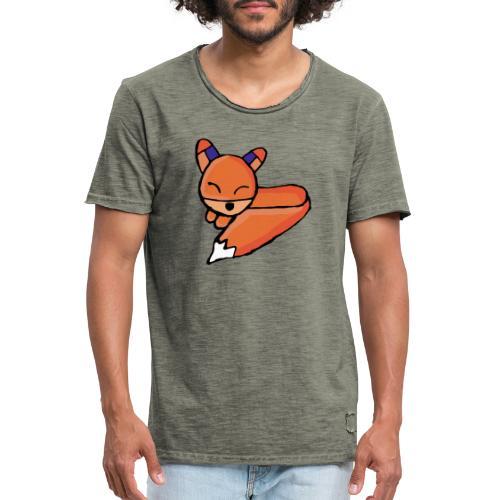 Edo le renard - T-shirt vintage Homme