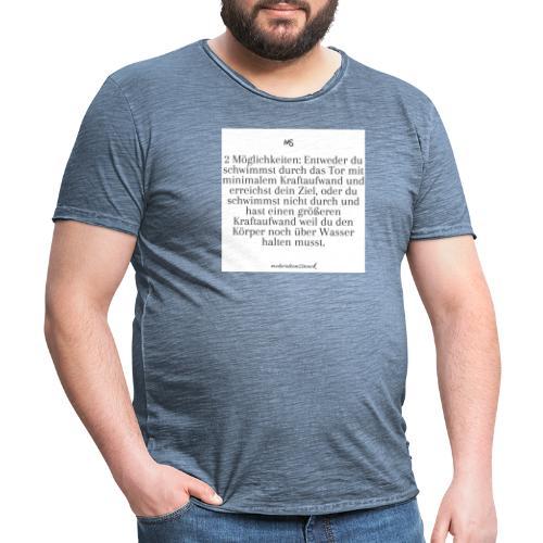 2 Möglichkeiten - Männer Vintage T-Shirt