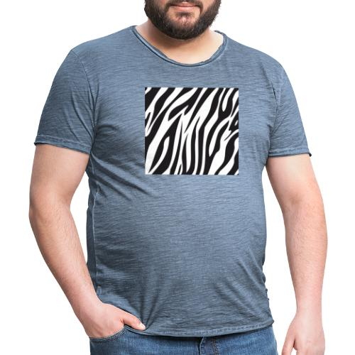 Zebrastreifen Muster - Männer Vintage T-Shirt