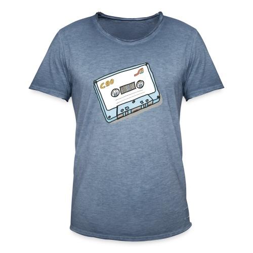 Cassette - Männer Vintage T-Shirt