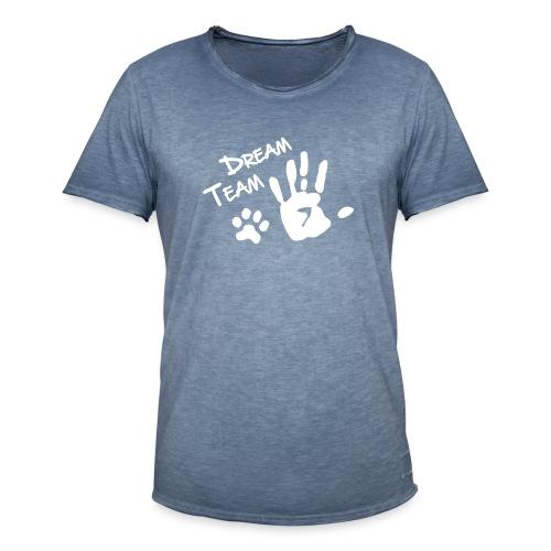 Vorschau: Dream Team Hand Hundpfote - Männer Vintage T-Shirt