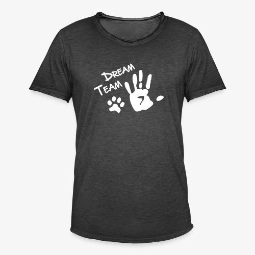Dream Team Hand Hundpfote - Männer Vintage T-Shirt