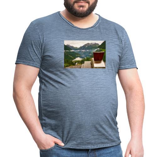 geiranger - Vintage-T-skjorte for menn