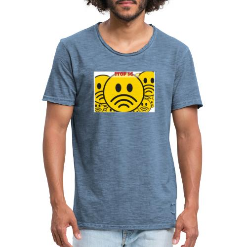 Stop ✋ T-shirt - Männer Vintage T-Shirt