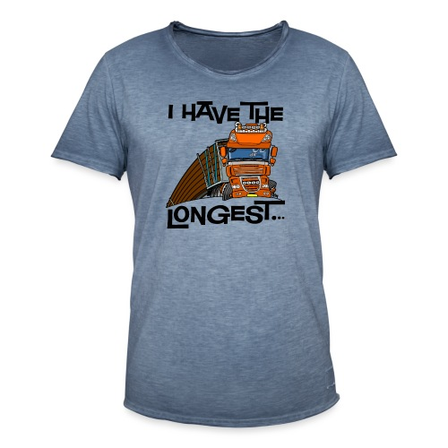 0793 D Truck I have the longest loads (FRONT+BACK) - Mannen Vintage T-shirt