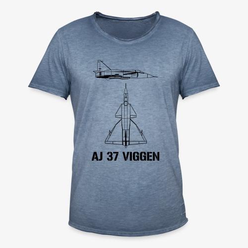AJ 37 VIGGEN - Vintage-T-shirt herr