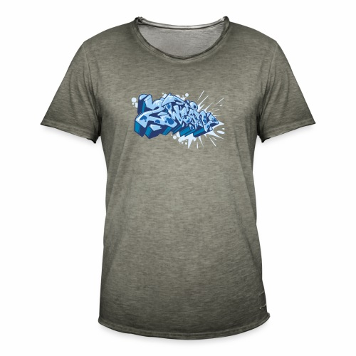 Dae 2Wear graffiti style ver02 Blue edt. - Herre vintage T-shirt