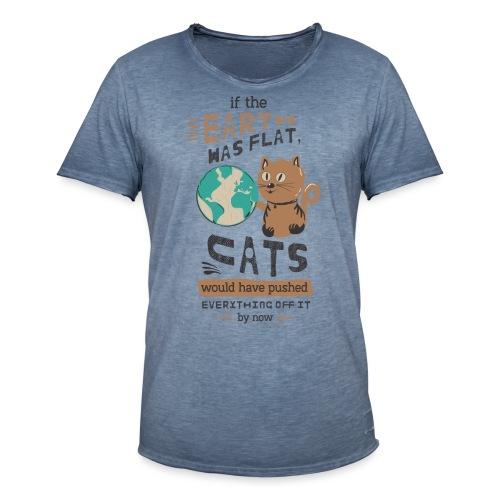 IF THE EARTH WAS FLAT - Vintage-T-skjorte for menn