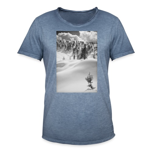 Winterlandschaft #1 - Männer Vintage T-Shirt