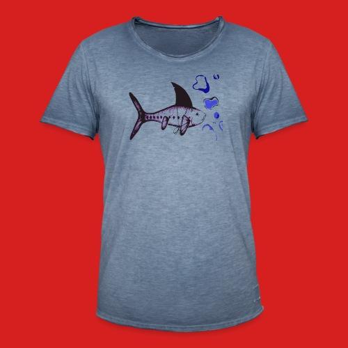 Hai-Fisch - Männer Vintage T-Shirt