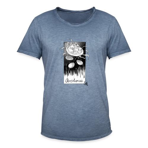 Uroboro - Maglietta vintage da uomo