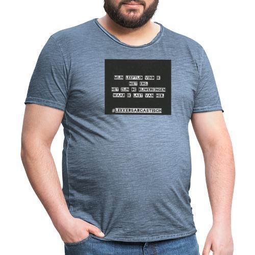 Lekker sarcastisch - Mannen Vintage T-shirt
