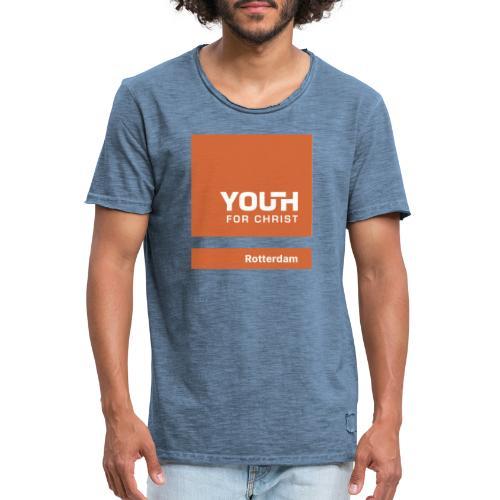 Logo drukwerk - Mannen Vintage T-shirt