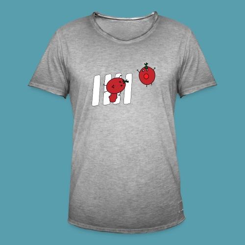 tomaatit - Miesten vintage t-paita