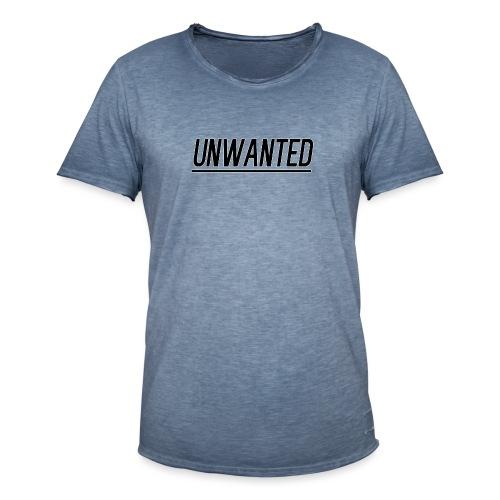 UNWANTED Logo Tee Black - Men's Vintage T-Shirt
