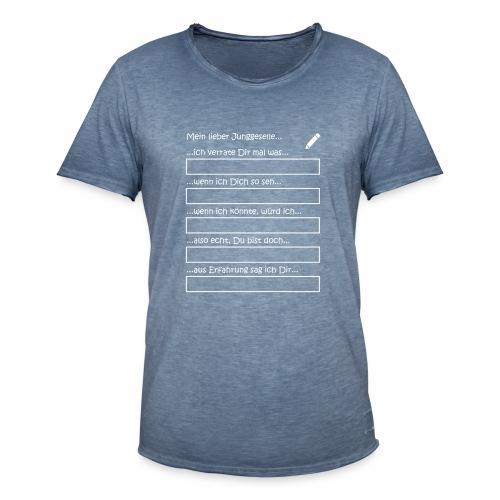 Junggesellenabschied Interaktionsspiel Junggeselle - Männer Vintage T-Shirt