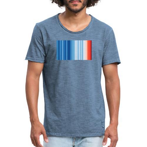 Klimawandel - Warming Stripes - Wärmestreifen - Männer Vintage T-Shirt