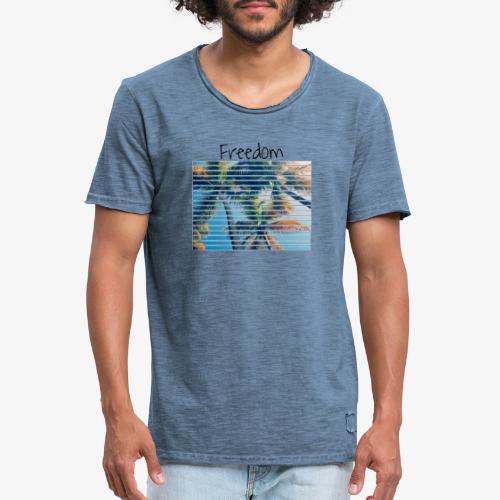 Freedom - Maglietta vintage da uomo