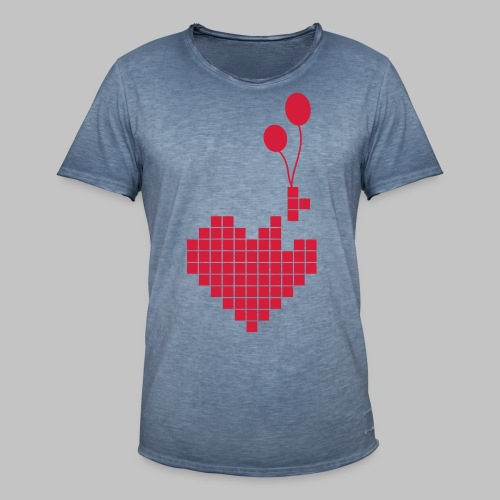 heart and balloons - Men's Vintage T-Shirt