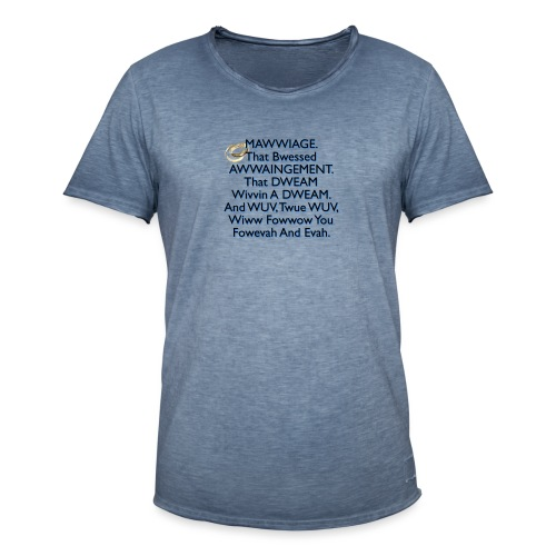 Mawwiage (blue) - Men's Vintage T-Shirt