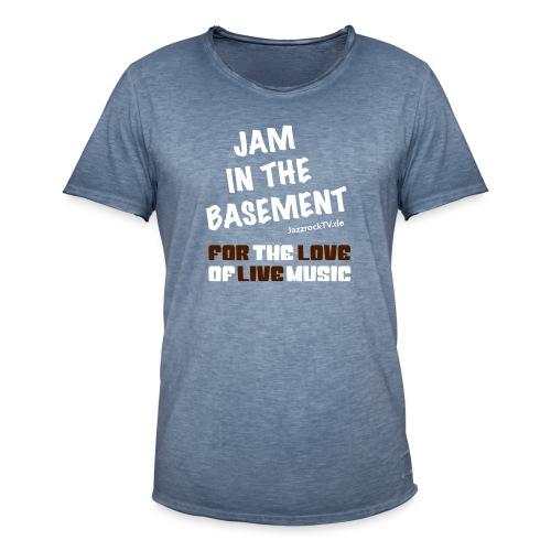 JazzrockTV - Jam In The Basement (Motiv 2) - Männer Vintage T-Shirt