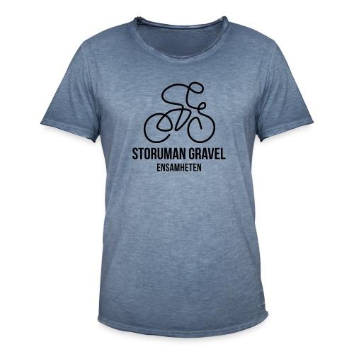 Storuman Gravel / Svart - Vintage-T-shirt herr