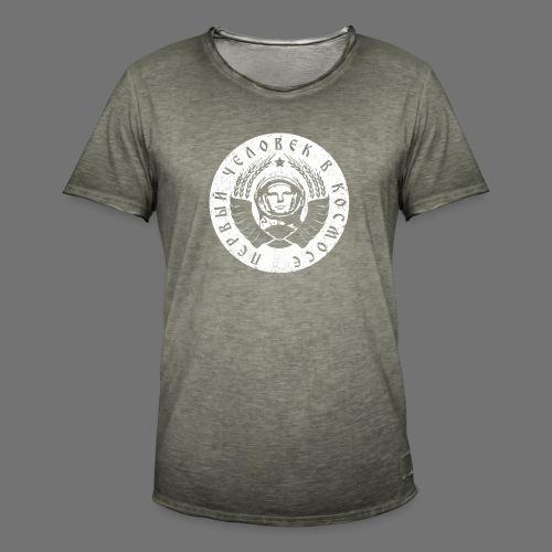 Cosmonaut 1c white (oldstyle) - Men's Vintage T-Shirt