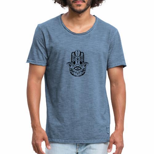 Mano abstracta - Camiseta vintage hombre