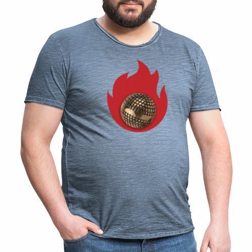 petanque fire - T-shirt vintage Homme