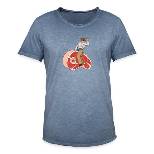 STEAK RODEO - Koszulka męska vintage