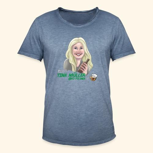 Tina øko pilsner - Herre vintage T-shirt
