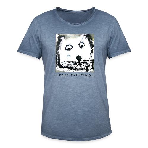 Keks und Katze - Männer Vintage T-Shirt